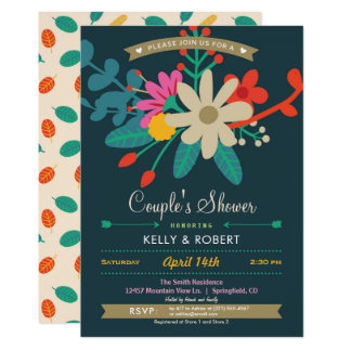 Colorful Floral Couple's Shower Invitation