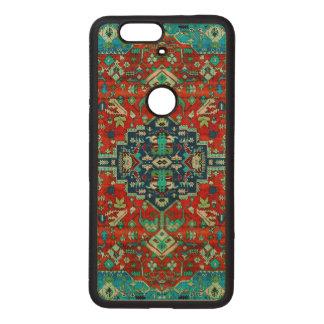 Colorful Floral Design Persian Carpet Motive Wood Nexus 6P Case