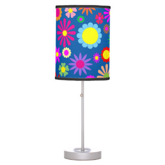 Colorful floral design table lamp