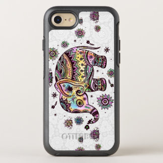 Colorful Floral Elephant Illustration OtterBox Symmetry iPhone 8/7 Case
