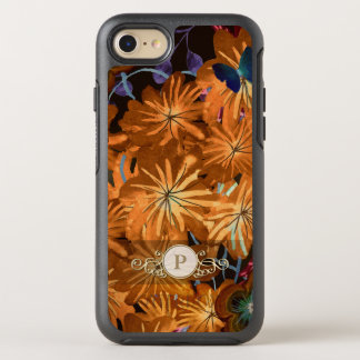 Colorful Floral Fancy Circle Monogram Case for Her