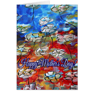 Colorful Floral Flower Art Mothers Day Card