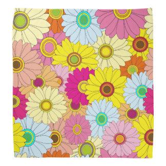 Colorful Floral Flower Pattern Bandana
