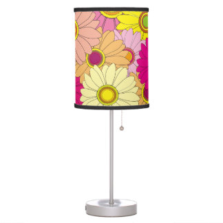 Colorful Floral Flower Pattern Desk Lamp