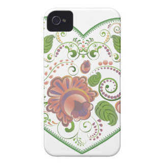 Colorful Floral Heart 2 iPhone 4 Covers