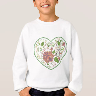 Colorful Floral Heart 2 Sweatshirt