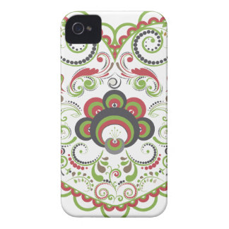 Colorful Floral Heart iPhone 4 Case-Mate Case