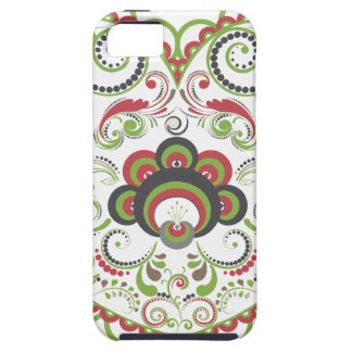 Colorful Floral Heart iPhone 5 Cases