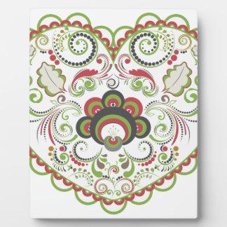 Colorful Floral Heart Plaque