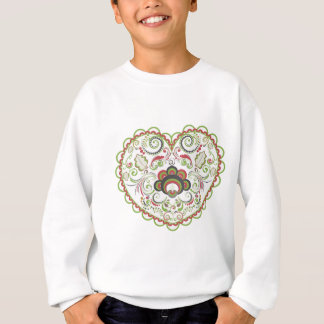 Colorful Floral Heart Sweatshirt