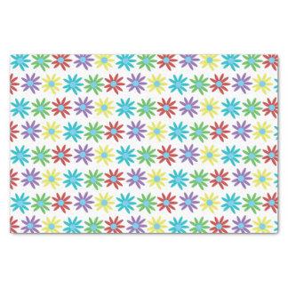 Colorful Floral Illustrated Design Tissue Paper