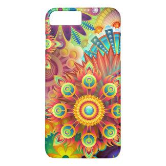 Colorful floral illustration iPhone 7 plus case