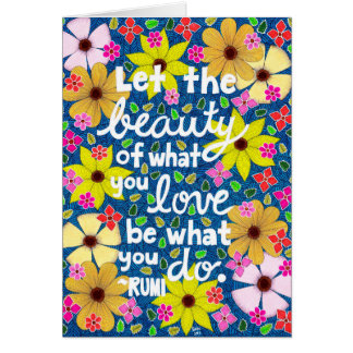 Colorful Floral Inspiring Quote Typography Card