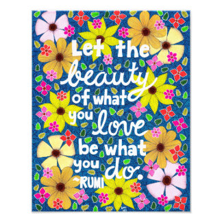 Colorful Floral Inspiring Quote Typography Photo
