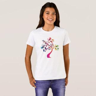 Colorful Floral Ornamental Tree Decorative T-shirt