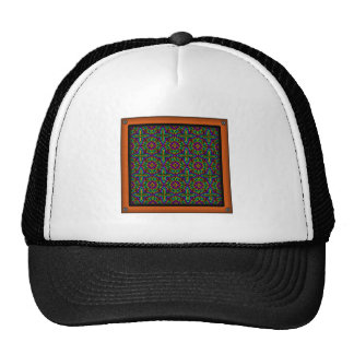 Colorful Floral Pattern Alternate Small Mesh Hats