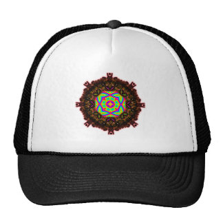 Colorful Floral Pattern Big Hat