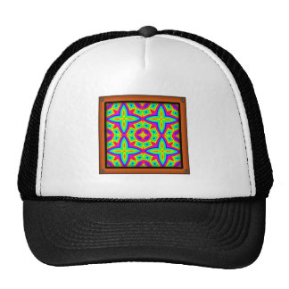 Colorful Floral Pattern Big Mesh Hats