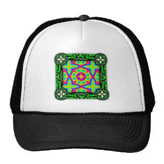 Colorful Floral Pattern Big Mesh Hat