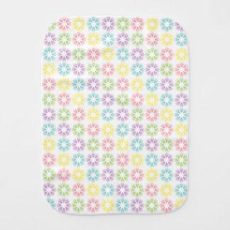 Colorful floral pattern burp cloth