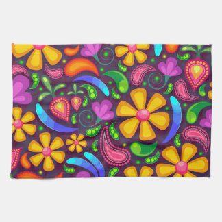 Colorful Floral Pattern Kitchen Towels