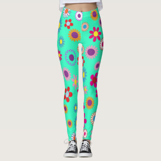 Colorful Floral Pattern Leggings