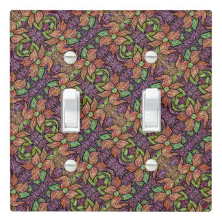 Colorful Floral Pattern Light Switch Cover