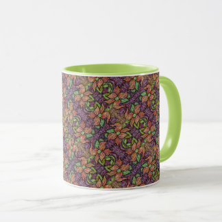 Colorful Floral Pattern Mug