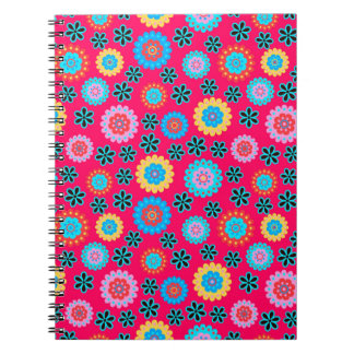 Colorful Floral Pattern Notebook