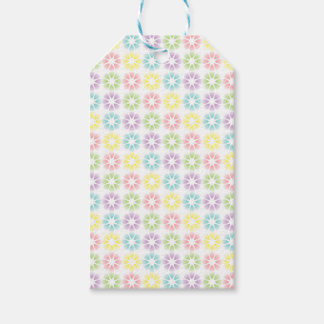 Colorful floral pattern pack of gift tags