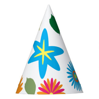 Colorful Floral Pattern Party Hat