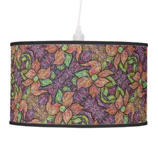 Colorful Floral Pattern Pendant Lamp