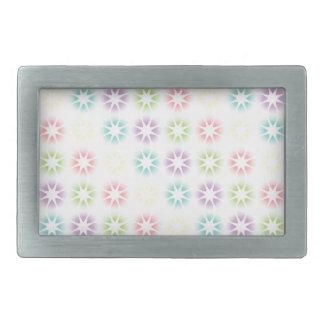 Colorful floral pattern rectangular belt buckles