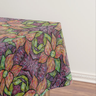 Colorful Floral Pattern Tablecloth
