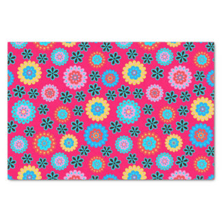 Colorful Floral Pattern Tissue Paper
