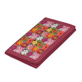 Colorful floral pattern wallet