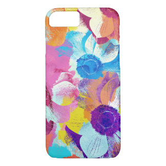 Colorful Floral Pattern with Anemone Flowers iPhone 8/7 Case