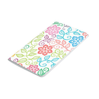 Colorful Floral Personalized Spiral Journal