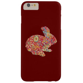Colorful Floral Silhouette Bunny iPhone 6 Case