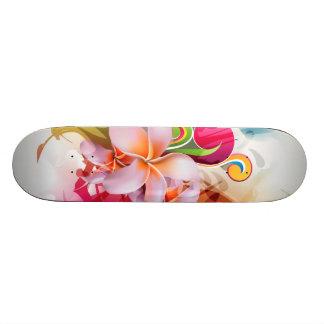Colorful Floral Splash Skateboard Deck