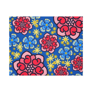 Colorful Floral Stretched Canvas Print