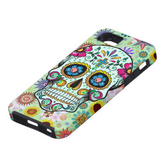 Colorful Floral Sugar Skull 3 Diamonds Case For iPhone 5/5S