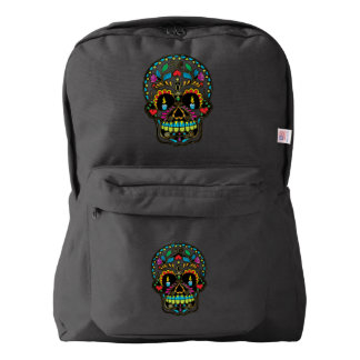 Colorful Floral Sugar Skull Backpack