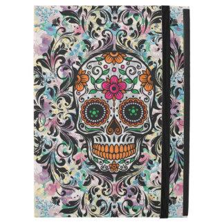 "Colorful Floral Sugar Skull & Black Swirls iPad Pro 12.9"" Case"