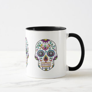 Colorful Floral Sugar Skull Mug
