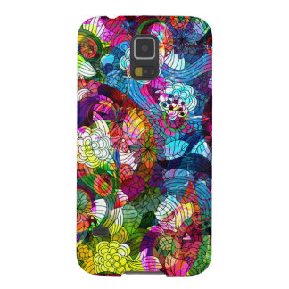 Colorful Floral Swirls Pattern Galaxy S5 Cases