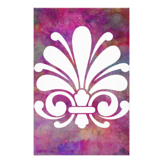 Colorful Floral Symbol Modern Design Personalized Stationery