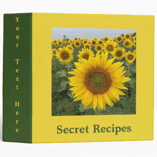 Colorful Floral Yellow Sunflowers Harvest Binder