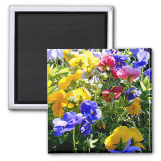 Colorful Flower 2 Inch Square Magnet