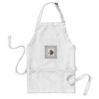 colorful flower basket standard apron